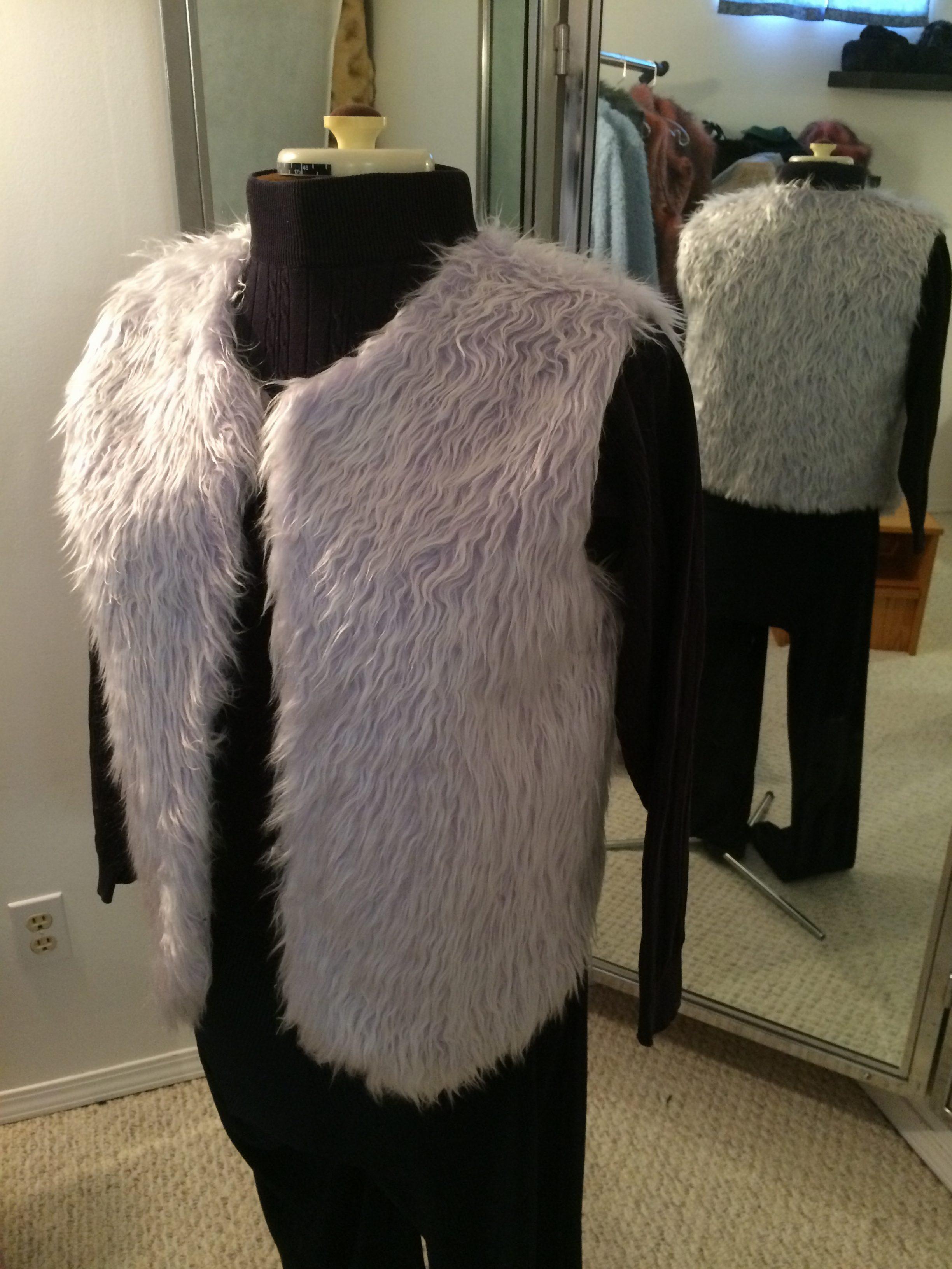Long lilac shag vest Image