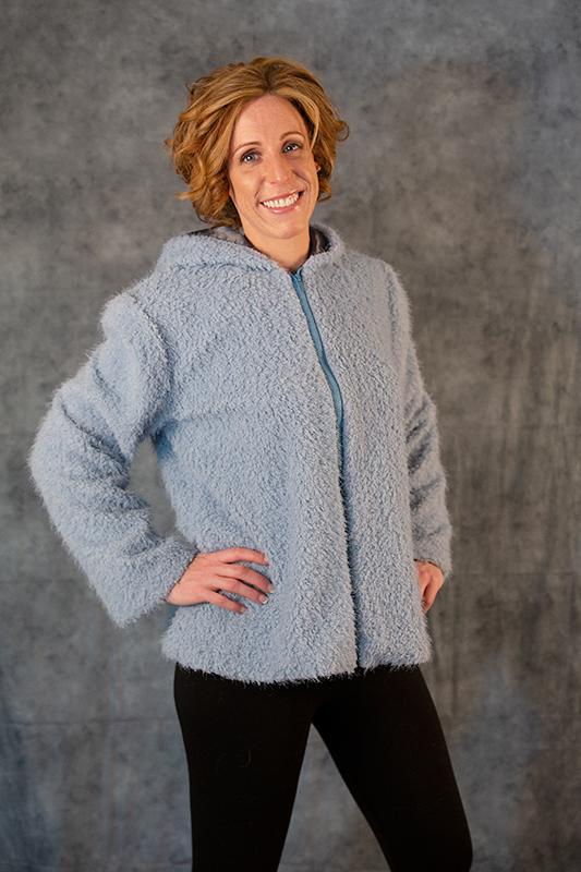 Blue Poodle Curl Jacket Image